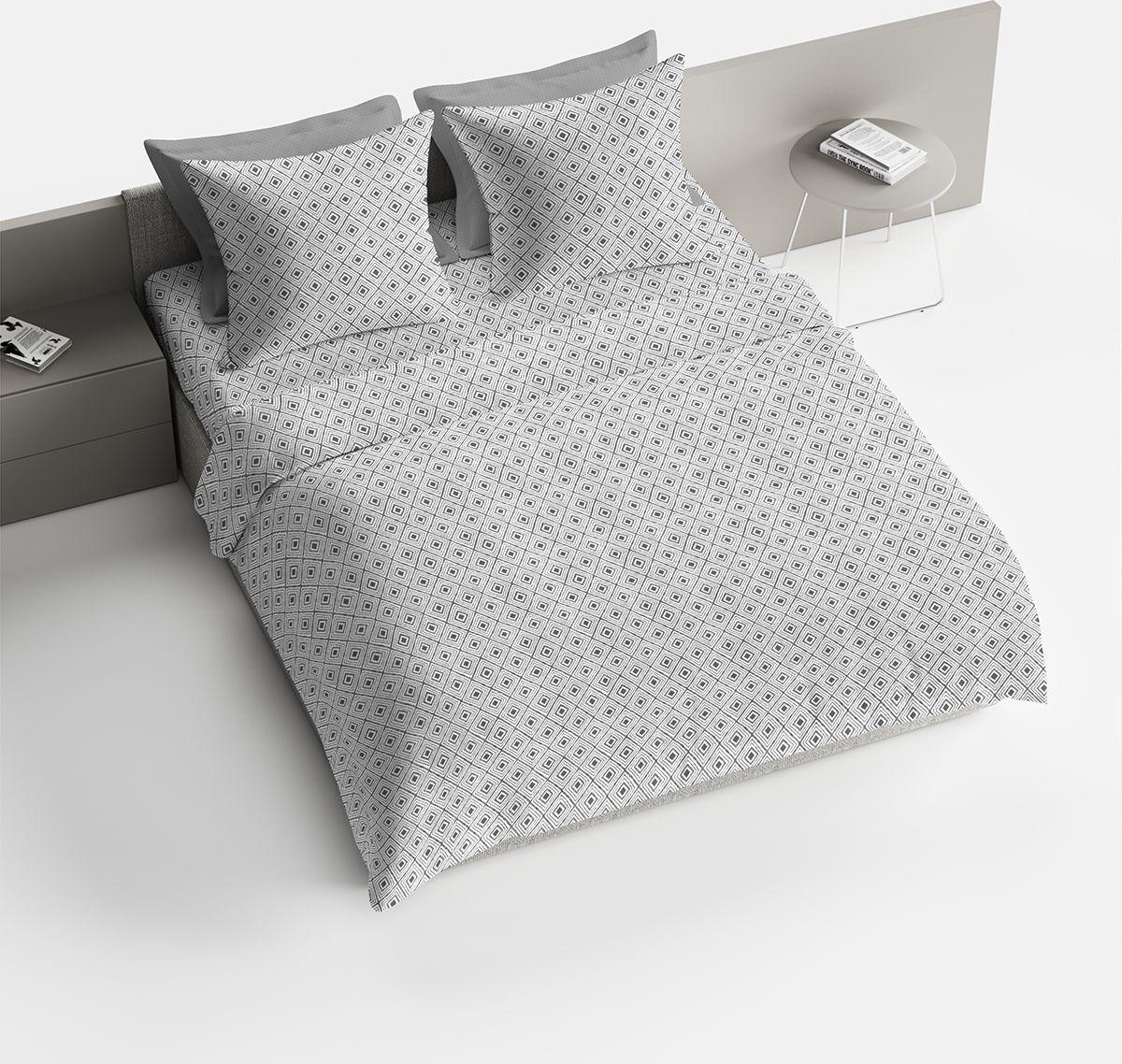 Комплект белья Браво Франко, 1,5 спальное, наволочки 70x70, цвет: серый. 4096-1