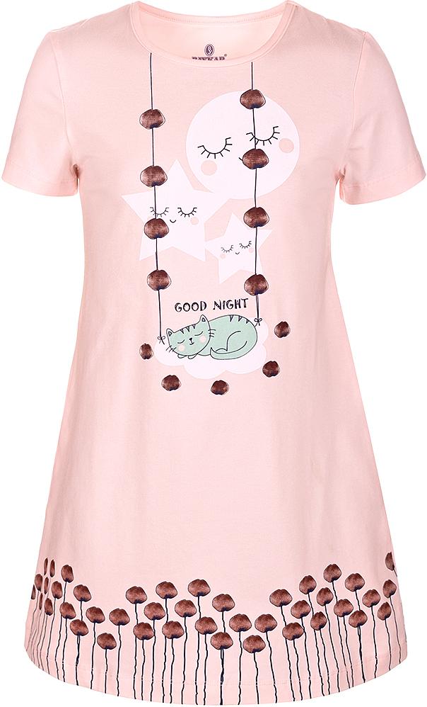 Ночная рубашка для девочки Baykar, цвет: розовый, мультиколор. N9322248A-5. Размер 98/104N9322248A-5Ночная рубашка для девочки Baykar подарит не только комфорт и уют, но и понравится ребенку благодаря своему веселому и приятному дизайну. Изготовленная из мягкого хлопка, она тактильно приятна, хорошо пропускает воздух, а благодаря свободному крою не стесняет движений во сне.