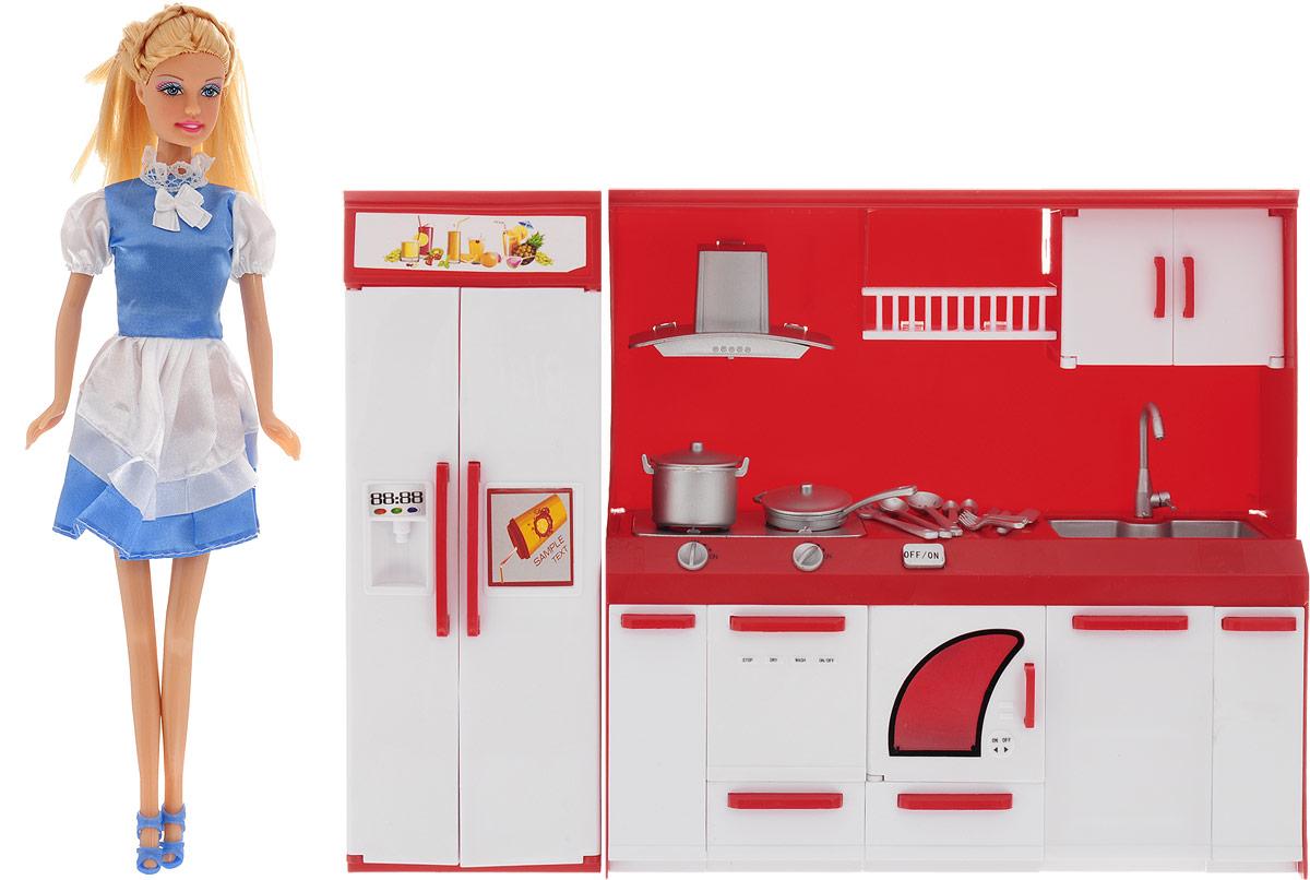 Defa Игровой набор с куклой Lucy На кухне кукла defa lucy 6023