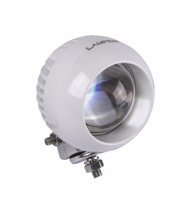 Фара автомобильная Lamper, светодиодная, 25 WS03301004Напряжение: 12-30 Вольт Мощность одного светодиода: 25W Модель светодиода: CREE Кол-во светодиодов: 1 шт.Световой поток: 2100 Люмен Температура свечения: 5500 Кельвинов Рабочий ток при 12/24V: 2,5/1,25A Световой поток: рассеянный Подключение: водонепроницаемый разъём 2pin Крепление: болт 10мм Виброустойчивость: 10-2000Hz Линзы: ударопрорчный поликарбонат Корпус: алюминиевый сплав Размеры: 106 x 70 Пыле-влагозащищенность: IP-68 (6-полная защита от пыли,8K-полная защита от воды, выдерживает высокое давление воды во время мойки)Рабочая температура: от -40С до +105С Срок службы: 50 000 часов