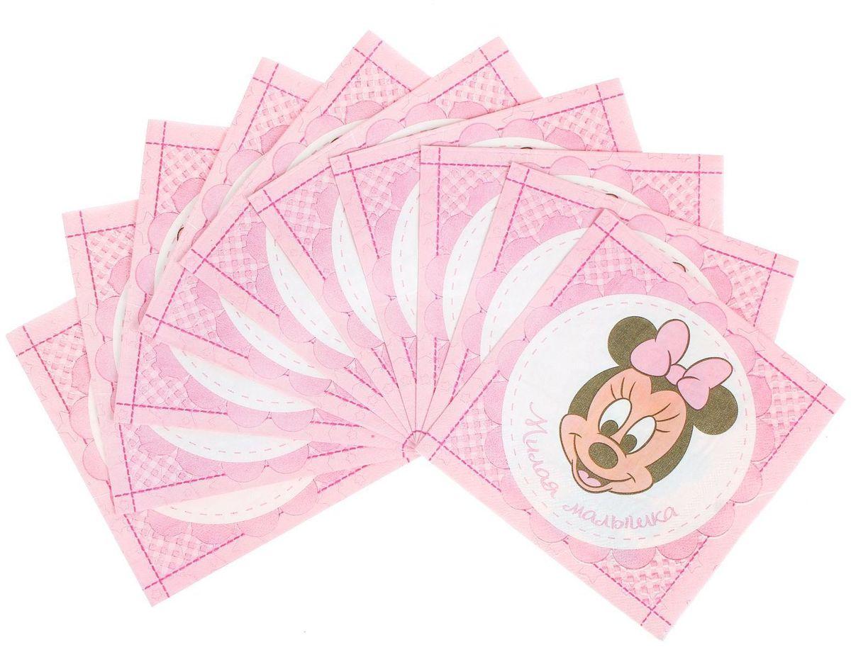 Салфетка для декупажа Disney Минни Маус. Самая любимая, 33 х 33 см1189460Салфетка для декупажа изготовлена из тонкой, но качественной бумаги. Легко приклеится к основе и сохранит при этом насыщенность красок и четкость линий.Создавайте свои уникальные шедевры!