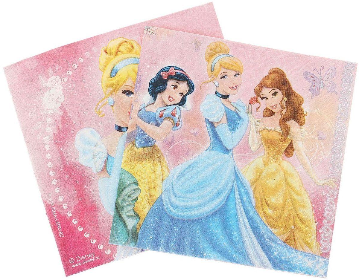 Набор салфеток для декупажа Disney  Принцессы. Верь в чудеса, 33 х 33 см, 2 шт1194229Набор салфеток для декупажа изготовлен из тонкой, но качественной бумаги. Легко приклеится к основе и сохранит при этом насыщенностькрасок и четкость линий. Создавайте свои уникальные шедевры!