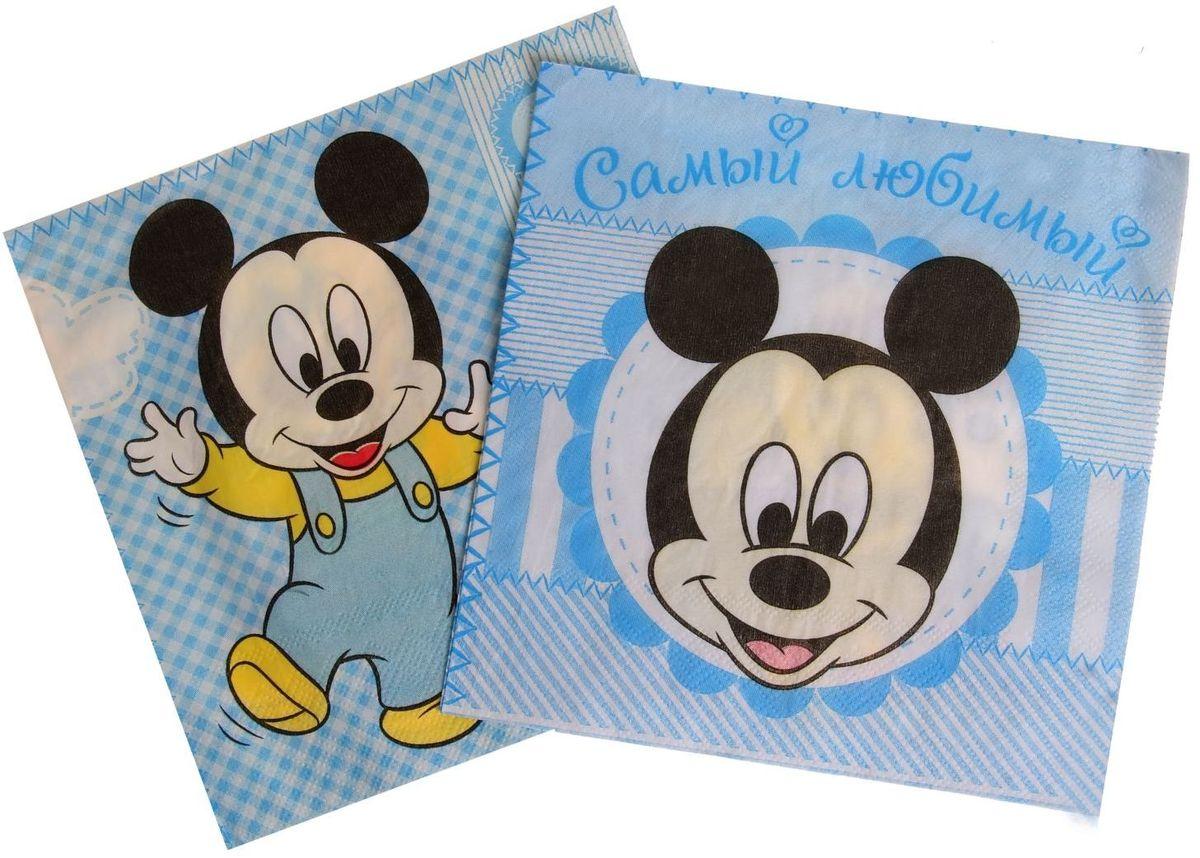 Набор салфеток для декупажа Disney Дисней Бэби. Счастливый малыш, 33 х 33 см, 2 шт1257340Набор салфеток для декупажа изготовлен из тонкой, но качественной бумаги. Легко приклеится к основе и сохранит при этом насыщенность красок и четкость линий.Создавайте свои уникальные шедевры!