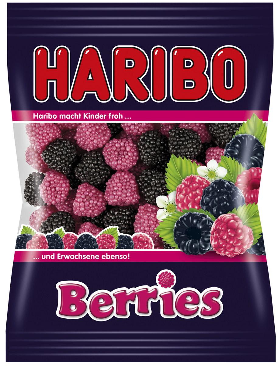 Haribo Ягоды жевательный мармелад, 100 г70512Каждая ягодка Haribo Berries состоит из мармеладного ядрышка, обсыпанного десятками сахарных жемчужин со вкусом спелой малины и сладкой ежевики. В состав входит полезный для здоровья агар-агар, который благотворно влияет на состояние волос и ногтей. Кстати, украсив Berries свою выпечку, вы придадите ей дополнительную аппетитность!Уважаемые клиенты! Обращаем ваше внимание, что полный перечень состава продукта представлен на дополнительном изображении.Упаковка может иметь несколько видов дизайна. Поставка осуществляется в зависимости от наличия на складе.