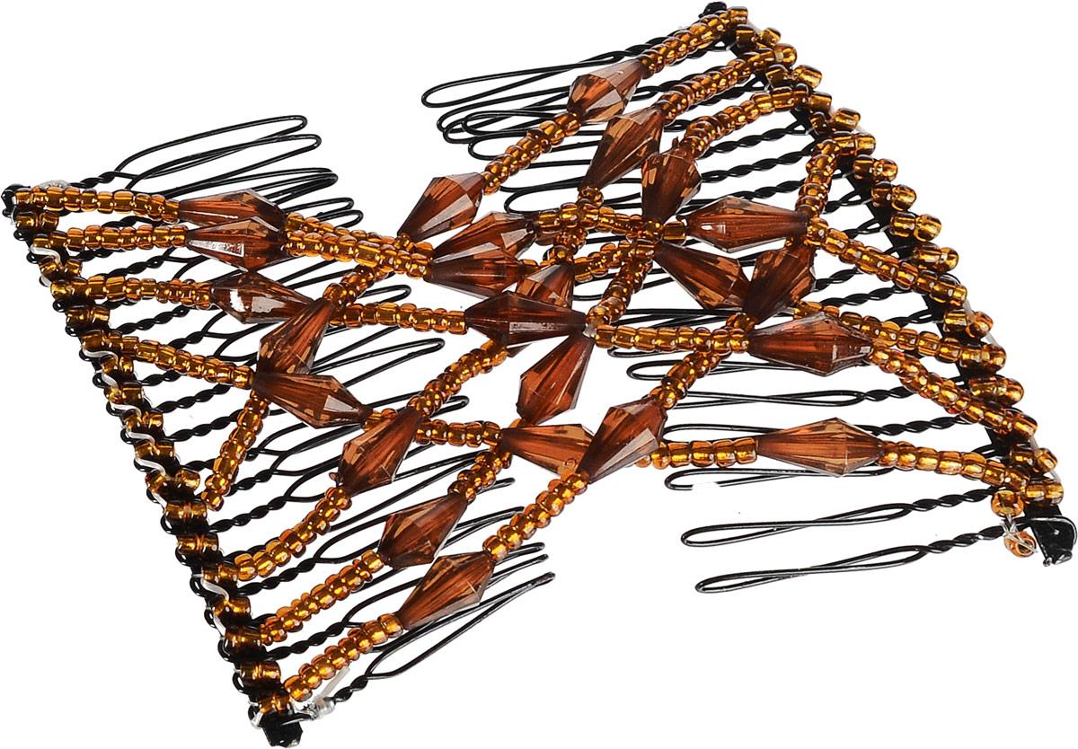 EZ-Combs Заколка Изи-Комбс, одинарная, цвет: коричневый. ЗИО_конус ez combs заколка изи комбс одинарная цвет сиреневый серебристый зио