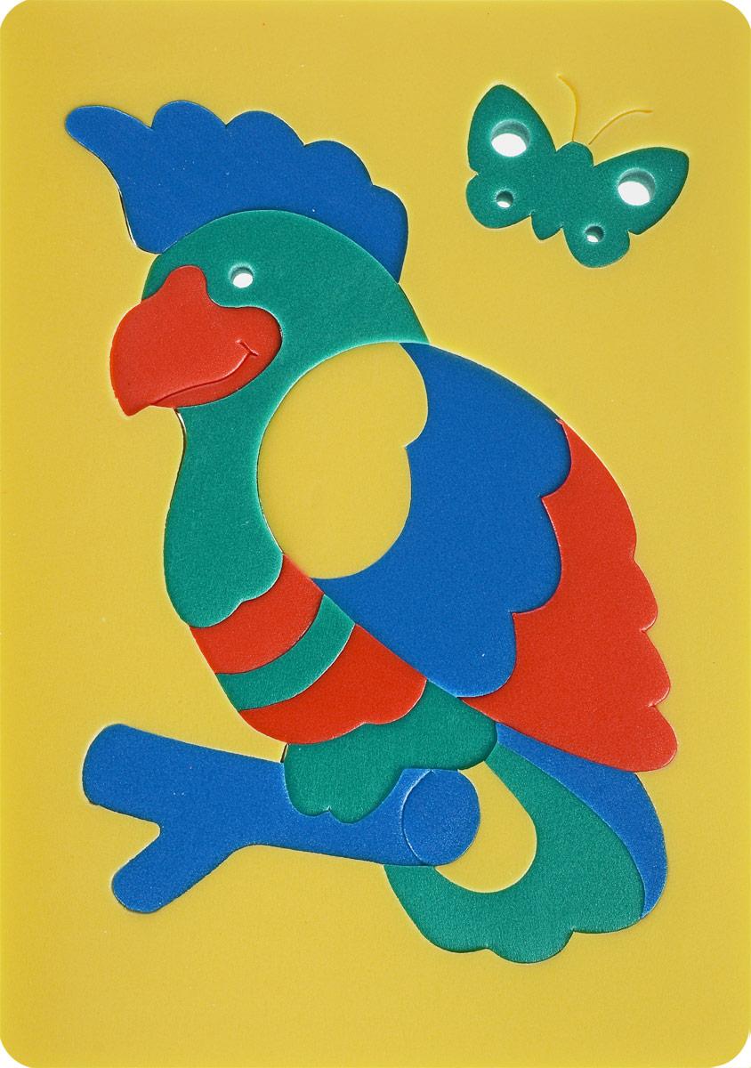 Мягкая мозаика Флексика Попугай, цвет: желтый игрушки для ванны флексика мозаика набор для ванны мир транспорта