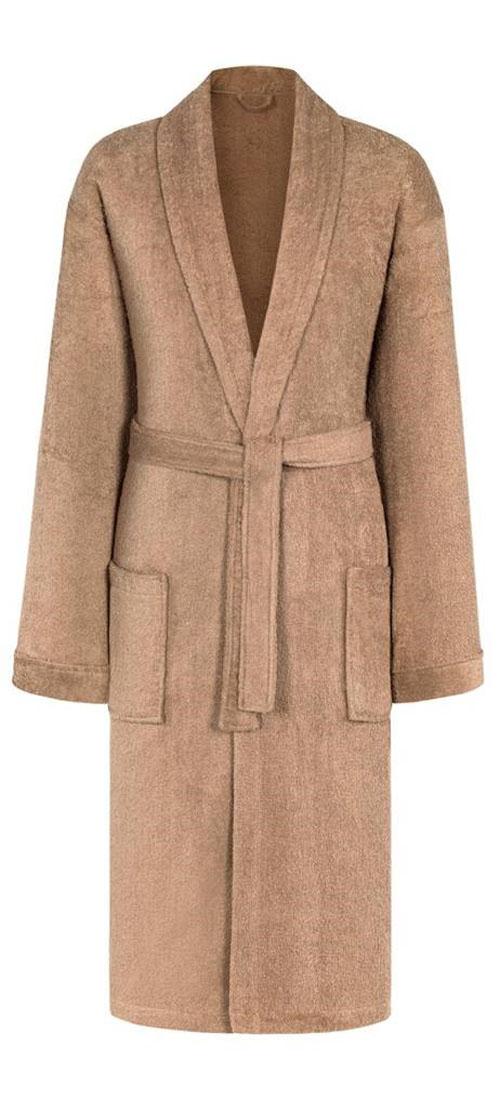 Халат мужской Estia, цвет: светло-коричневый. Пьер. Размер L (50)ПьерТеплый халат Estia выполнен из натурального ворсистого хлопка. Модель оснащена двумя накладными карманами и поясом.