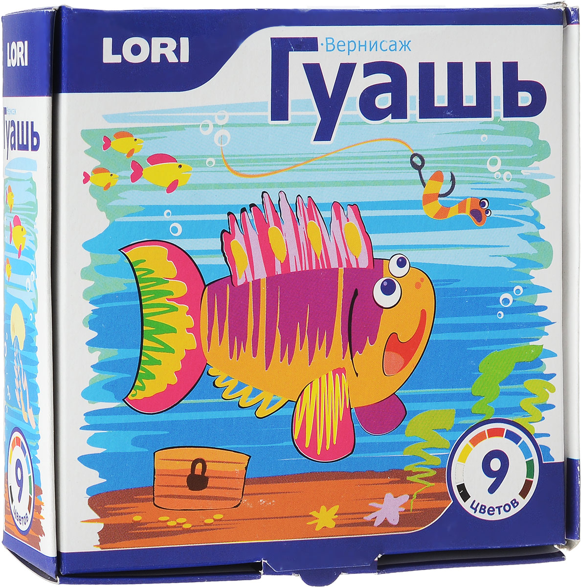 Гуашь Lori Вернисаж, 9 цветовГ-003Гуашь Вернисаж предназначена для рисования по бумаге, картону, дереву и стеклу. Набор включает краски 9 насыщенных цветов: синего, черного, зеленого, красного, желтого, белого, оранжевого, голубого, коричневого. Каждая пластиковая баночка с гуашью закрывается винтовой крышкой. Яркие цвета дают множество оттенков при смешивании. Легко размываются водой и быстро сохнут. Характеристики: Объем баночки с краской: 20 мл. Размер упаковки: 12 см х 12 см х 4 см.