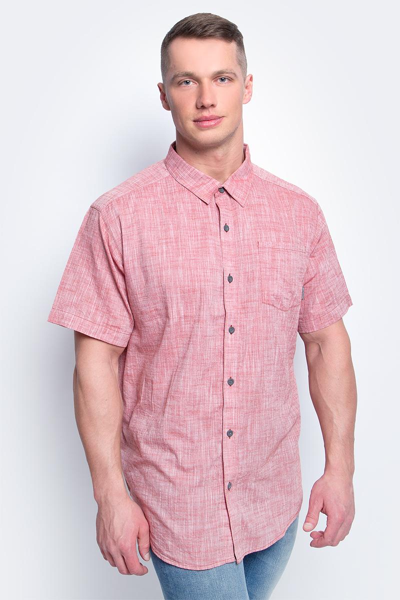 Рубашка мужская Columbia Under Exposure YD SS, цвет: кирпичный. 1715221-808. Размер  (44/46)