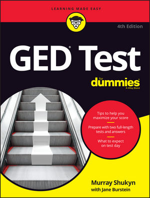 GED Test For Dummies murray shukyn ged test for dummies quick prep