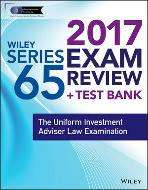 Wiley FINRA Series 65 Exam Review 2017 o whittington ray wiley cpa exam review fast track study guide