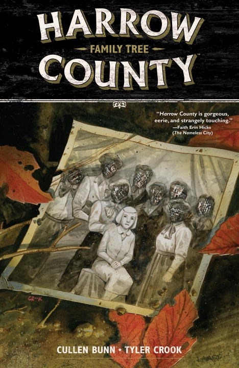 Harrow County Volume 4: Family Tree twister family board game that ties you up in knots