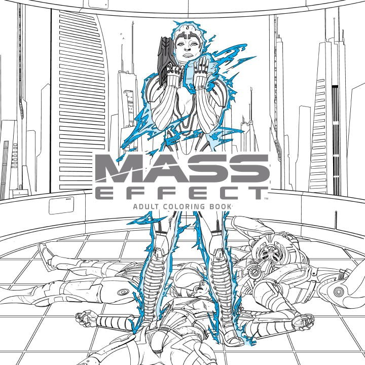 Mass Effect Adult Coloring Book mass effect volume 2 evolution