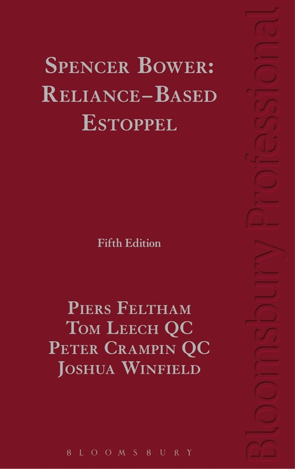 Spencer Bower: Reliance-Based Estoppel: The Law of Reliance-Based Estoppel and Related Doctrines a princess of mars