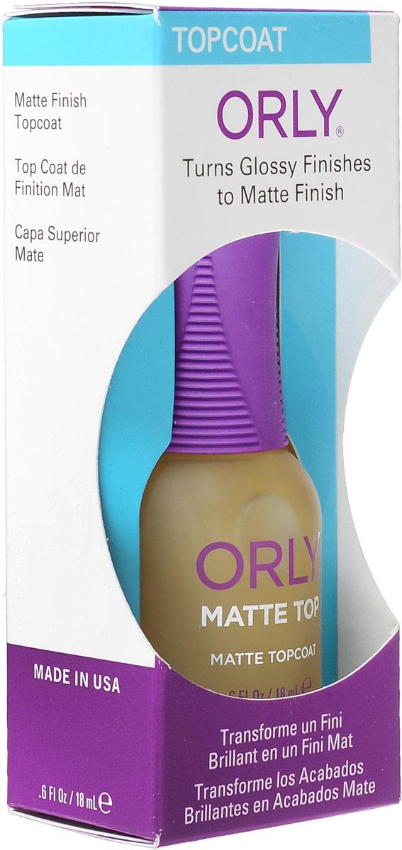 Orly Верхнее покрытие Matte Top с матирующим эффектом, 18 мл24250Покрытие Orly Matte Top придает маникюру матовый сатиновый эффект. Уменьшает скалывание лака, идеально подходит для создания дизайна ногтей, в котором сочетаются матовые и блестящие участки.Способ применения: для достижения матового эффекта, необходимо нанести 1-2 слоя препарата на подсохшее лаковое покрытие. Можно использовать с базовым покрытием Bonder. Это обеспечит максимально прочное сцепление лакового покрытия с ногтем и увеличит продолжительность жизни маникюра. Характеристики:Объем: 18 мл. Артикул: 24250. Производитель: США. Товар сертифицирован.Состав: этилацетат, бутилацетат, нитроцеллюлоза, сополимер, изопропил, гидратированный кварц, триметил-пентанил диизобутират, трифенил фосфат, N-бутиловый спирт, стеаралкониум гекторит, стеаралкониум бентонит, бензофенон-1, диметикон, пигменты.Как ухаживать за ногтями: советы эксперта. Статья OZON Гид