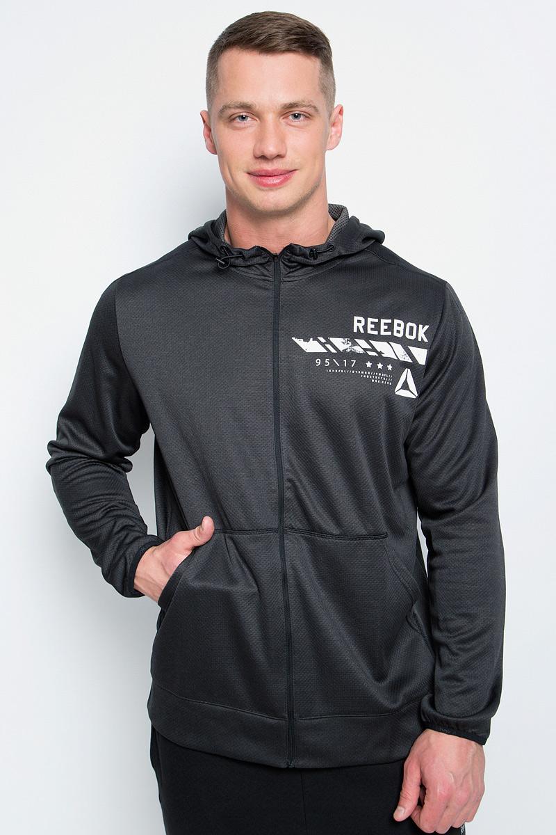 Толстовка мужская Reebok Wor Elitage Group F, цвет: темно-серый. BK3279. Размер XL (56/58) толстовка мужская reebok wor elitage group f цвет темно синий bk3269 размер xl 56 58