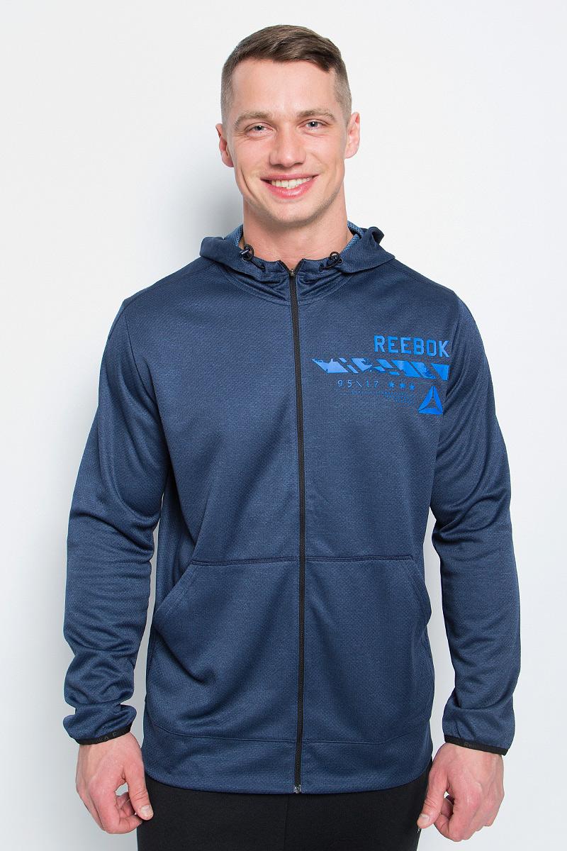 Толстовка мужская Reebok Wor Elitage Group F, цвет: темно-синий. BK3269. Размер XL (56/58) толстовка мужская reebok wor elitage group f цвет темно синий bk3269 размер xl 56 58