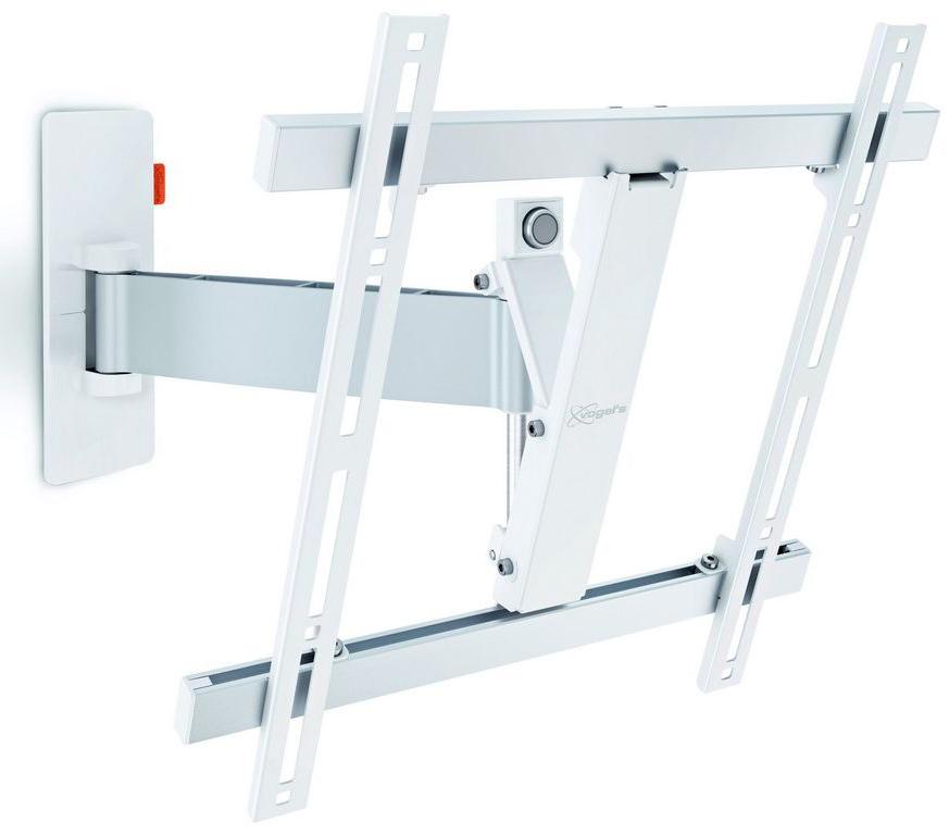 Vogels W52071, White кронштейн для ТВW 52071 whiteVogels W52071 - шарнирный настенный кронштейн для телевизоров (белый). Для телевизоров с размером экрана до 55 дюймов (140 см). Кронштейн W52071 подходит для телевизоров с размером экрана от 32 до 55 дюймов (от 81 до 140 см). Выдерживает вес до 20 кг. Освободите дополнительное пространство, повесив свой телевизор на стену. Современные и стильные кронштейны для телевизора Vogels серии W — это прекрасный выбор. Качественная конструкция и совершенный дизайн означает, что вы можете надежно закрепить свой телевизор там, где он не будет никому мешать, и забыть об этой проблеме на долгие годы.Если вы хотите, чтобы телевизор можно было максимально удобно смотреть из любого места в комнате, используйте наши поворотные настенные кронштейны для телевизора. У них широкий угол поворота, до 180°.