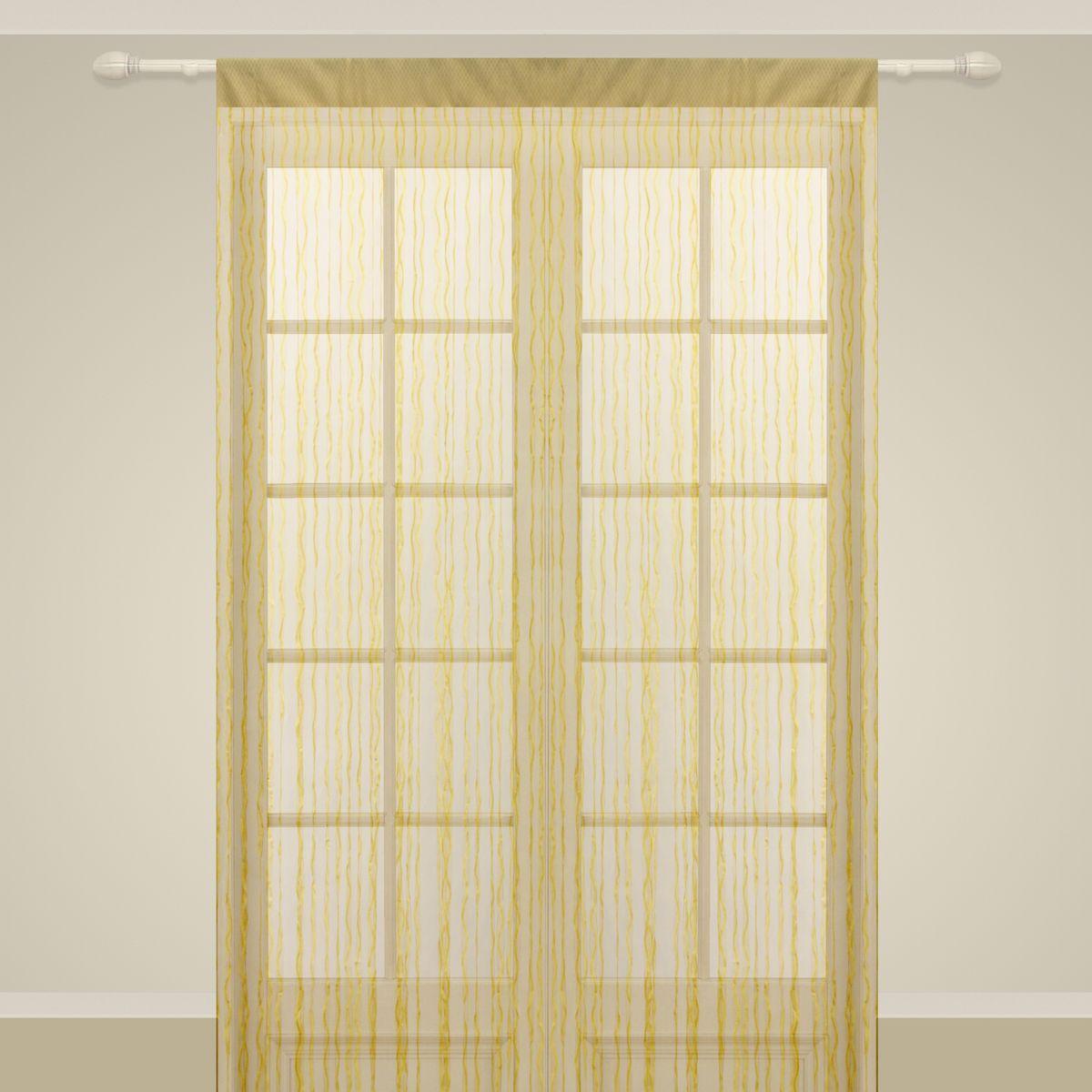 Штора нитяная Sanpa Home Collection, на ленте, цвет: золотистый, высота 290 смКШСатера, розово-серый, , ш180*в260-2шт/ш400*в260см + 2 подхватаШтора нитяная Sanpa Home Collection, выполненная из текстиля, подходит как для зонирования пространства, так и для декорации окна, как самостоятельное решение или дополнение к шторам. Такая штора великолепно дополнит интерьер вашего дома и станет отличным дизайнерским решением.