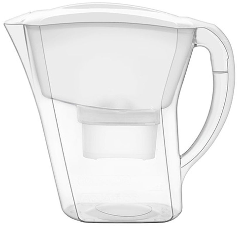 Фильтр-кувшин для воды Аквафор Агат, цвет: белый, прозрачный, 3,8 л фильтр кувшин для воды аквафор стандарт цвет голубой прозрачный 2 5 л
