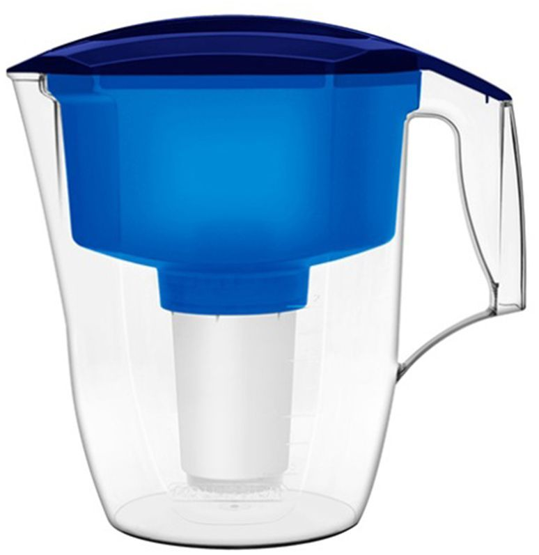 Фильтр-кувшин для воды Аквафор Кантри, цвет: синий, прозрачный, 3,9 л фильтр кувшин для воды аквафор стандарт цвет голубой прозрачный 2 5 л