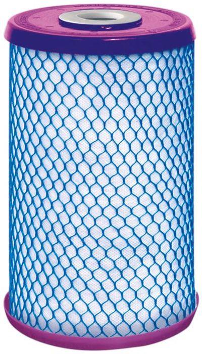 Модуль сменный Аквафор В 510-18, для очистки воды от железа, для 10 ВВМ В510-18Фильтрующий сменный модуль Аквафор В 510-18, изготовленный по современной технологии карбонблок, предназначен для предварительной очистки воды от железа и защиты от ржавчины. Обеспечивает эффективную очистку от:- Общего железа.- Органических примесей. - Тяжелых металлов. - Активного хлора, а также нерастворимых примесей.Модуль устанавливается в стандартные 10-дюймовые корпуса и может использоваться в системах водоснабжения квартир, коттеджей, кафе, ресторанов.Карбонблок представляет собой связную монолитную структуру и отличается более высокой технологичностью по сравнению с традиционными насыпными фильтрами.Обычно карбонблок получают из порошкового активированного угля, который смешивается с измельченным полиэтиленом, после чего подвергается спеканию: под воздействием температуры мелкие частицы угля (от 20 до 50 микрон) склеиваются между собой.В результате появляется упорядоченная сорбционная среда, свойствами которой, например, пористостью, можно управлять на стадии изготовления. Кроме того, эти свойства остаются постоянными на протяжении всего срока службы модуля. Благодаря тому, что частицы сорбента скреплены между собой, в карбонблоках практически отсутствуют канальные эффекты, присущие обычным насыпным фильтрам.