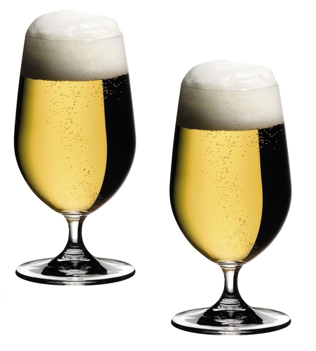 Набор бокалов Riedel Beer, 500 мл, 2 шт6408/11Набор Riedel Beer, состоящий из двух бокалов, выполнен из высококачественного стекла. Бокалы предназначены для подачи пива. Набор сочетает в себе элегантный дизайн и функциональность. Благодаря такому набору питьнапитки будет еще вкуснее.Набор Riedel Beer прекрасно оформит праздничный стол и создаст приятную атмосферу. Такие бокалы также станут хорошим подарком к любому случаю. Можно мыть в посудомоечной машине.Диаметр (по верхнему краю): 6,5 см. Высота: 17 см.