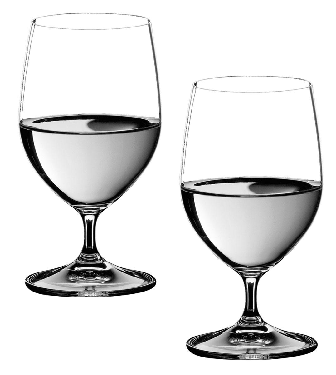 Набор бокалов Riedel Water, 350 мл, 2 шт6416/02Набор Riedel Water состоит из двух бокалов, выполненных из прочного стекла. Бокалы предназначены для подачи воды. Они сочетают в себе элегантный дизайн и функциональность. Благодаря такому набору пить напитки будет еще вкуснее.Набор бокалов Riedel Water прекрасно оформит праздничный стол и создаст приятную атмосферу за романтическим ужином. Такой набор также станет хорошим подарком к любому случаю. Можно мыть в посудомоечной машине.Диаметр бокала (по верхнему краю): 6,5 см. Высота бокала: 14,5 см.