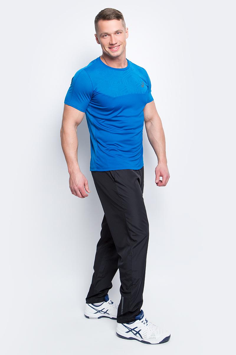 Футболка для фитнеса мужская Asics Ventilation Top, цвет: синий. 141623-8154. Размер M (48/50)141623-8154Мужская футболка Asics выполнена из полиэстера. У модели классический круглый ворот и короткие стандартные рукава. Изделие оформлено дышащими вставками. Технология Motion Dry позволяет выводить влагу, оставляя тело сухим и сохраняя его оптимальный температурный режим.