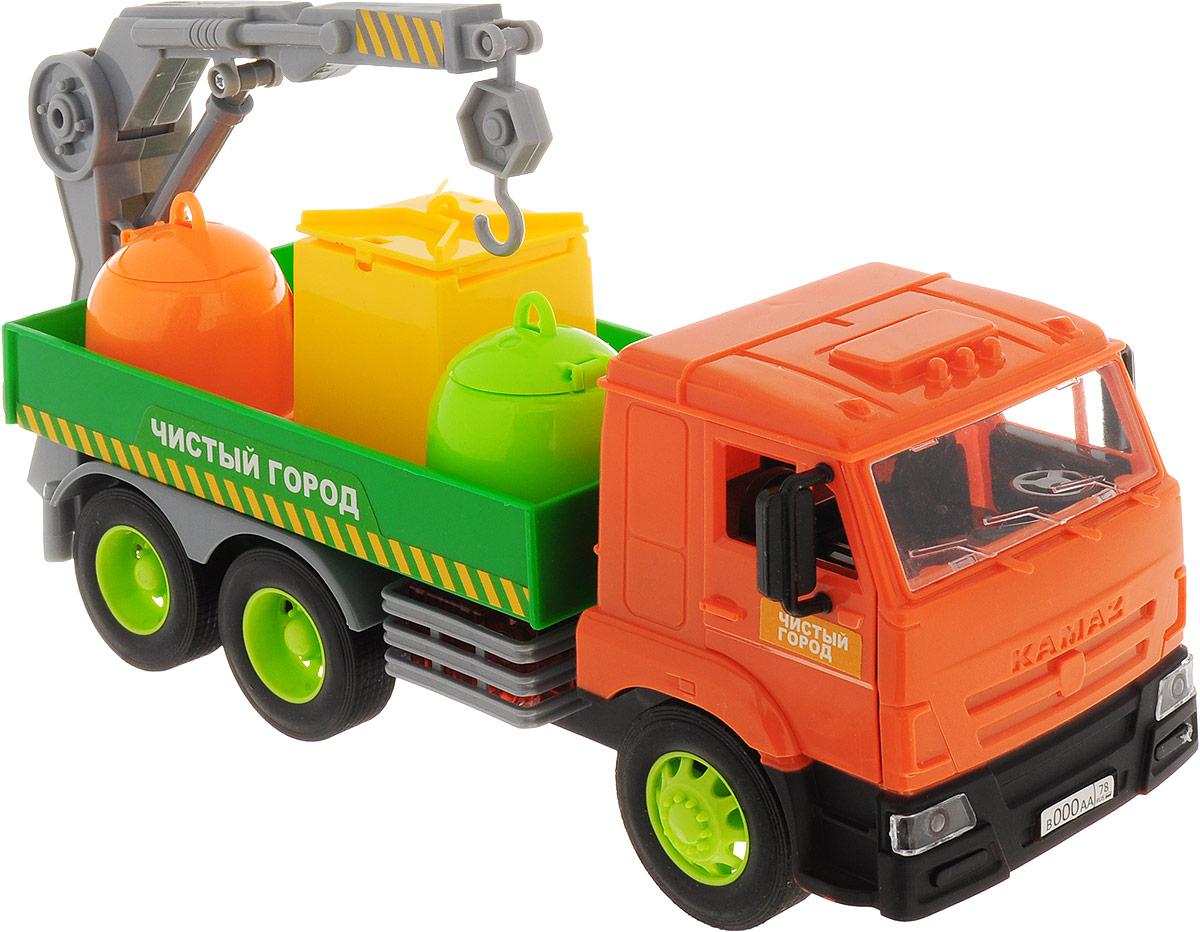 ТехноПарк Мусоровоз КамАЗ Чистый город мусоровоз orion камакс мусоровоз 765 разноцветный в ассортименте