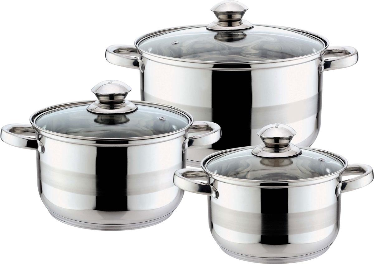 Набор кастрюль Bekker  Jumbo , с крышками, 6 предметов - Посуда для приготовления