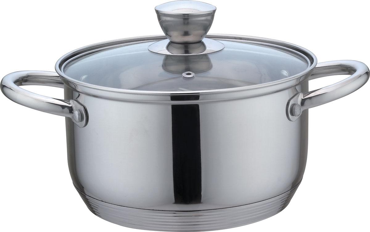 Кастрюля Bekker De Luxe, с крышкой, 3,6 лBK-1752Кастрюля Bekker De Luxe выполнена из нержавеющей стали. Посуда полностью соответствует мировым стандартам в области безопасности и экологии. Кастрюля имеет плотно прилегающую стеклянную крышку с пароотводом и капсулированное многослойное дно, которое предотвращает пригорание пищи и способствует равномерному распределению тепла. Подходит для индукционных плит и чистки в посудомоечной машине. Толщина стенок: 0,5 мм.