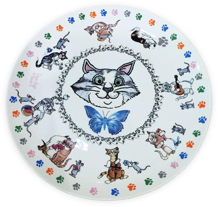 Набор тарелок GiftnHome Кошки-мышки, диаметр 20 см, 4 штPL-20S BON КошкиНабор GiftnHome Кошки-мышки состоит из 4 тарелок. Они изготовлены из костяного фарфора.Тарелки прекрасно подходят для сервировки стола и подачи различных блюд. Такие тарелки отлично впишутся в интерьер вашей кухни и станут достойным дополнением к кухонному инвентарю.