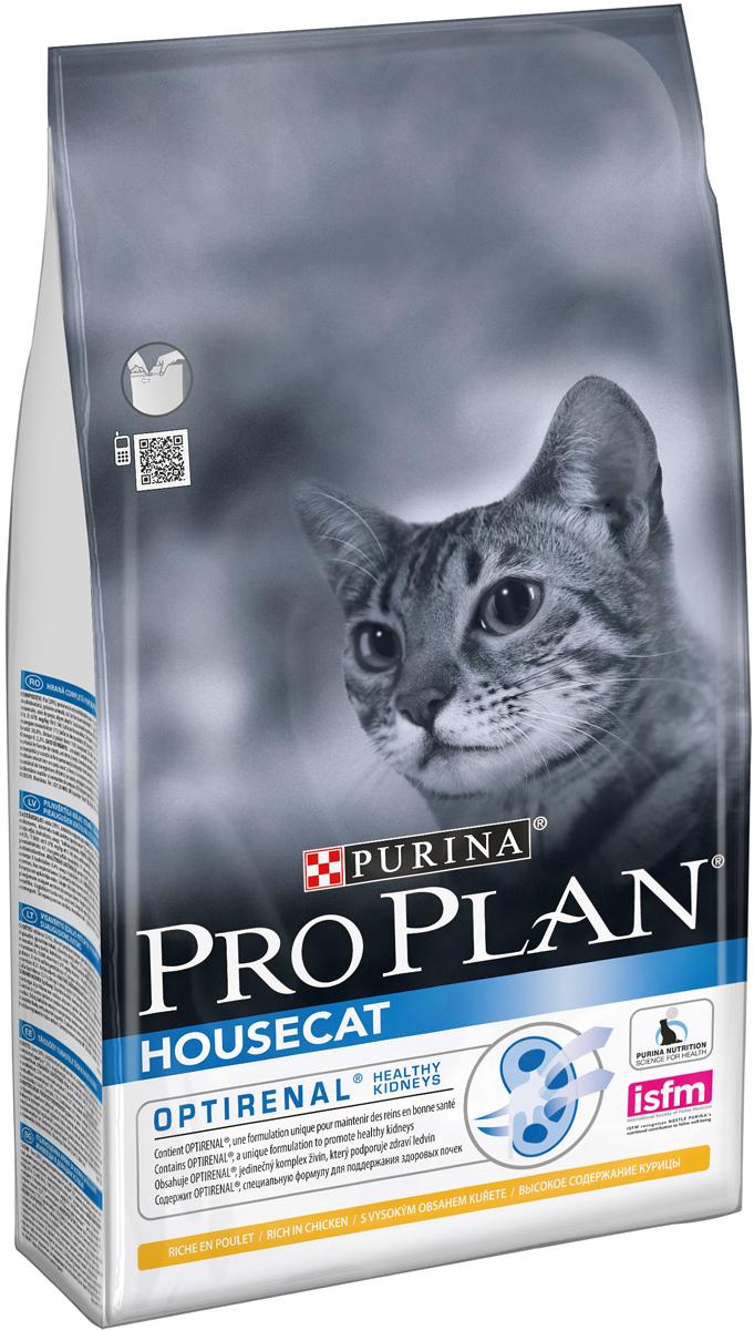 Корм сухой Pro Plan House Cat для взрослых кошек, живущих в помещении, с курицей, 1,5 кг корм сухой 1st choice adult для живущих в помещении взрослых кошек с курицей 350 г