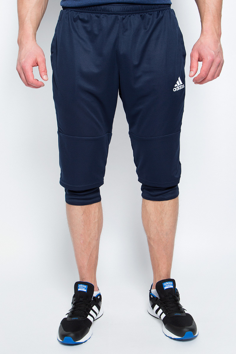 Брюки спортивные мужские adidas Tiro17 3/4 Pnt, цвет: синий. BQ2645. Размер L (52/54) брюки adidas брюки тренировочные adidas tiro17 wov pnt bq2793