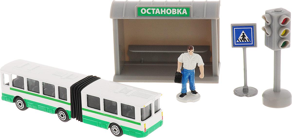 ТехноПарк Игровой набор Городской транспорт Автобус игрушки для зимы росигрушка песочный набор транспорт 3 л дорожный патруль