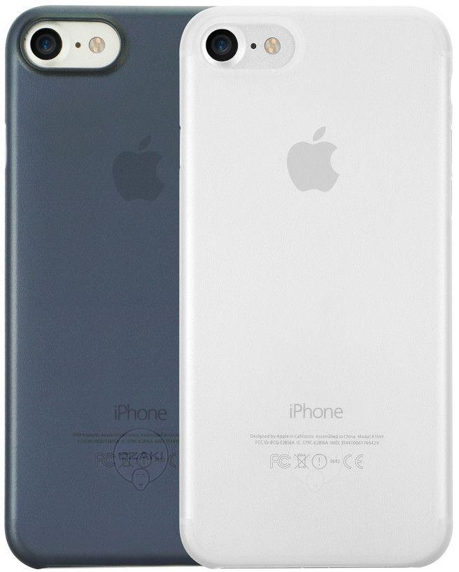Ozaki O!coat 0.3 Jelly набор чехлов для iPhone 7, Clear Dark Blue
