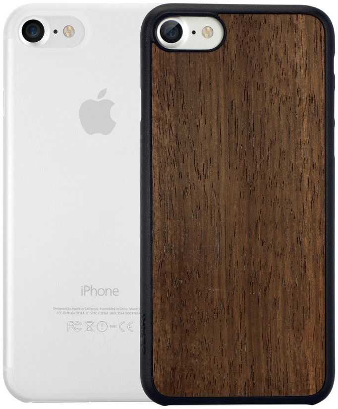 Ozaki O!coat Jelly+Wood набор чехлов для iPhone 7/8, Ebony Clear