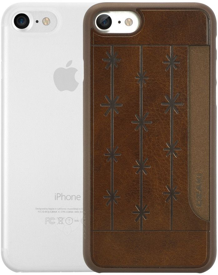 Ozaki O!coat Jelly+Pocket набор чехлов для iPhone 7/8, Brown Clear