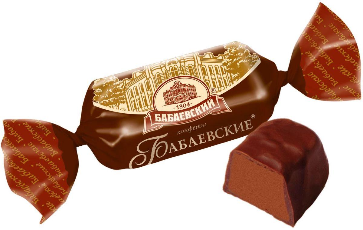 Бабаевские конфеты с шоколадным вкусом в шоколадной глазури, 250 гББ09868Знаменитые московские конфеты, напоминают вкус детства!