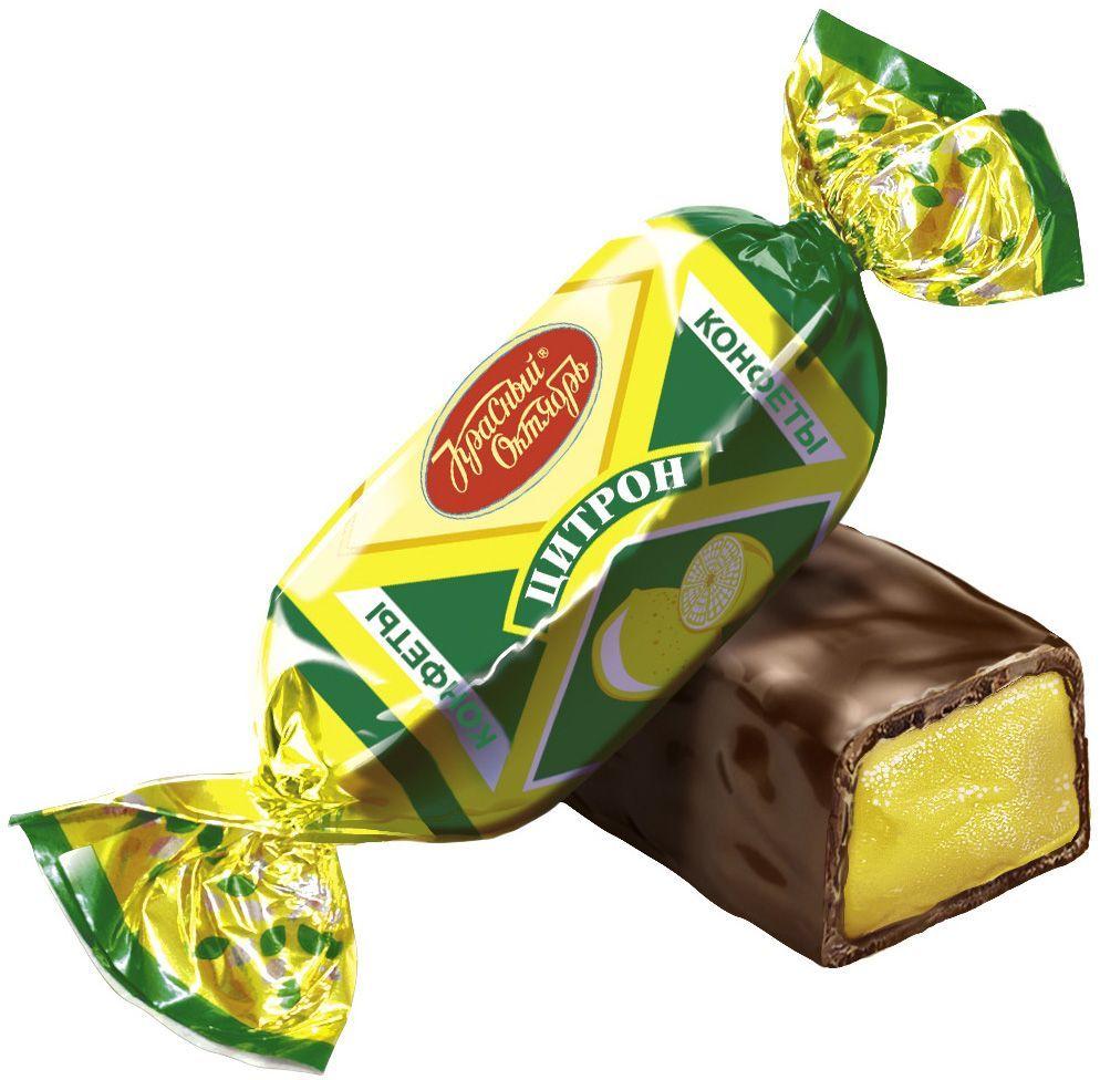 Красный Октябрь Цитрон конфеты с пралине в шоколадной глазури, 250 гКО04118Знаменитые московские конфеты напоминают вкус детства!