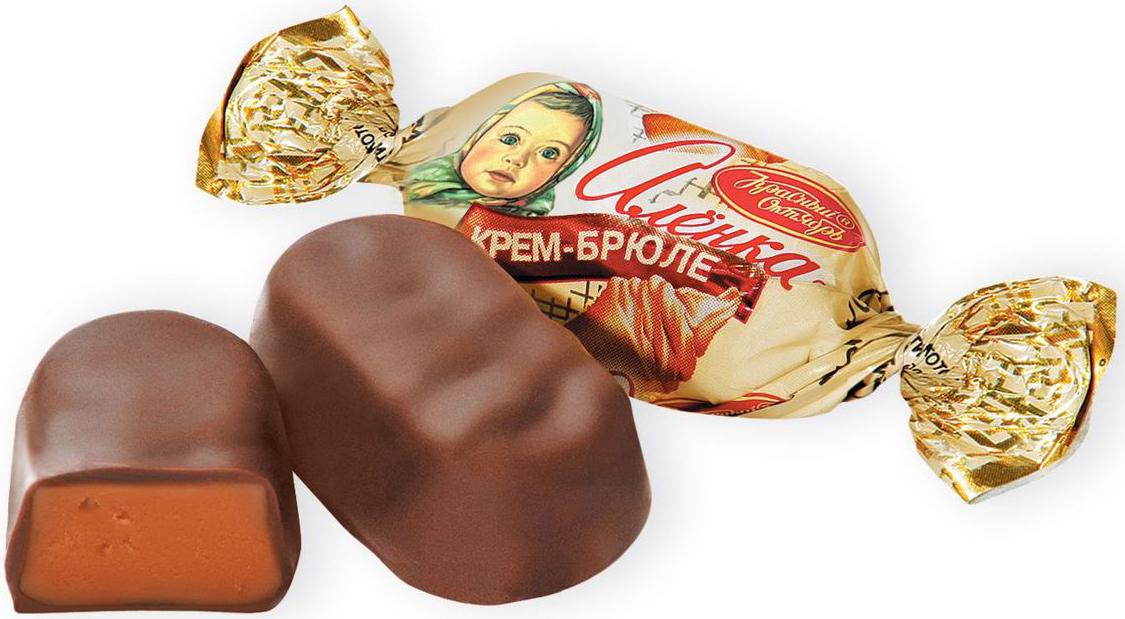Красный Октябрь Аленка конфеты крем-брюле овал, 250