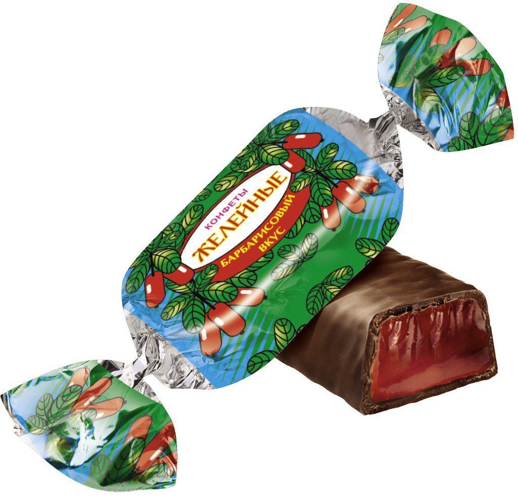 Красный Октябрь Желейные конфеты со вкусом барбариса глазированные в шоколаде, 250 г flis happy time ореховые глазированные конфеты 92 г