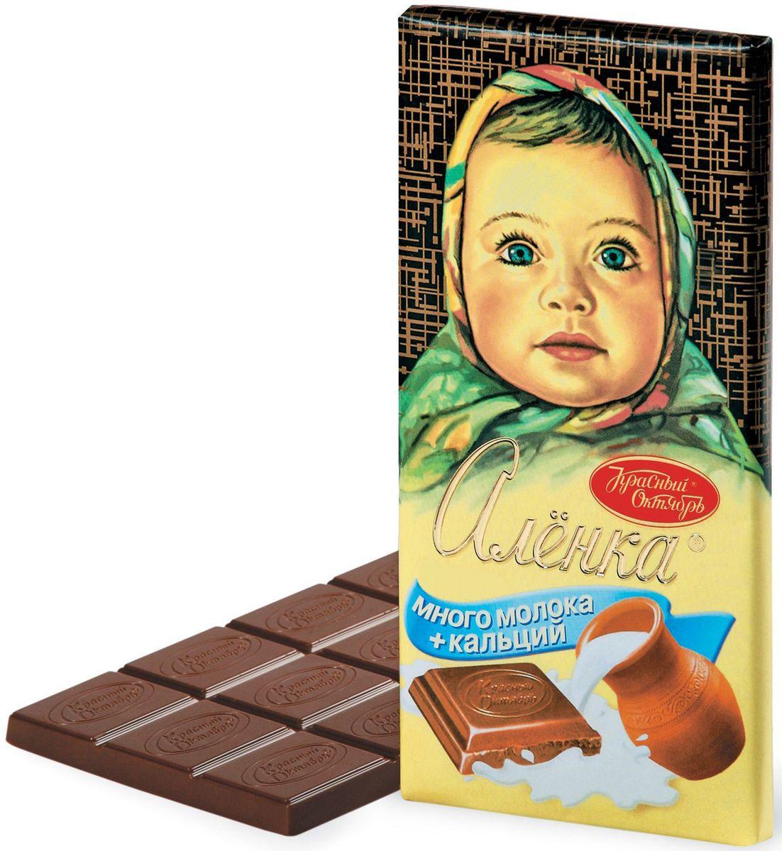 Красный Октябрь Аленка много молока молочный шоколад, 100 гКО05561Знаменитый шоколад Алёнка выпускается кондитерской фабрикой Красный Октябрь.