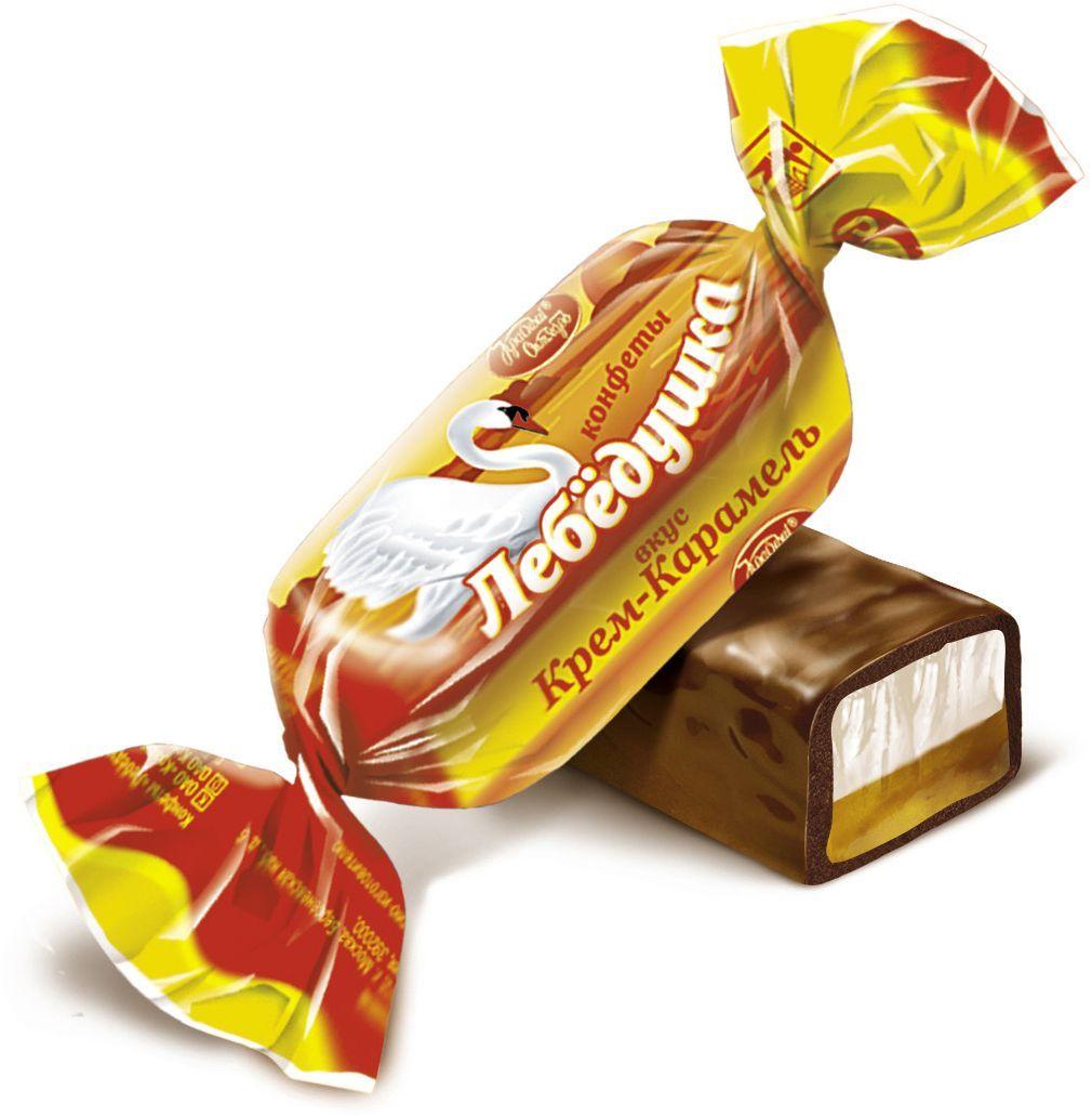 Красный Октябрь Лебедушка конфеты со вкусом крем карамель в шоколадной глазури, 250 гКО10384Знаменитые московские конфеты напоминают вкус детства!