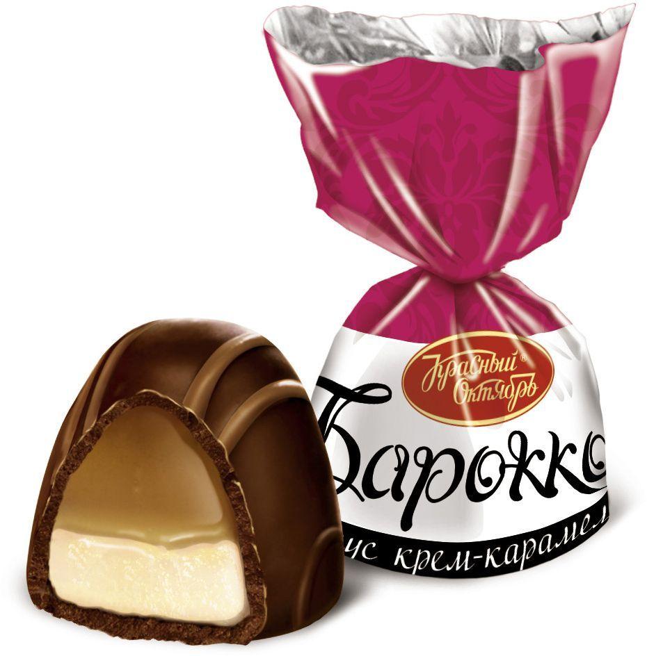 Красный Октябрь Барокко конфеты со вкусом крем-карамель в шоколадной глазури, 250 г