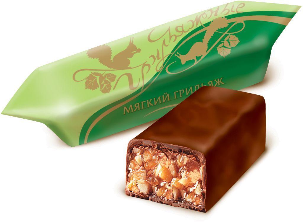 Красный Октябрь Грильяжные конфеты мягкий грильяж в шоколадной глазури, 200 г красный октябрь красная шапочка конфеты с вафельной начинкой в шоколадной глазури 250 г