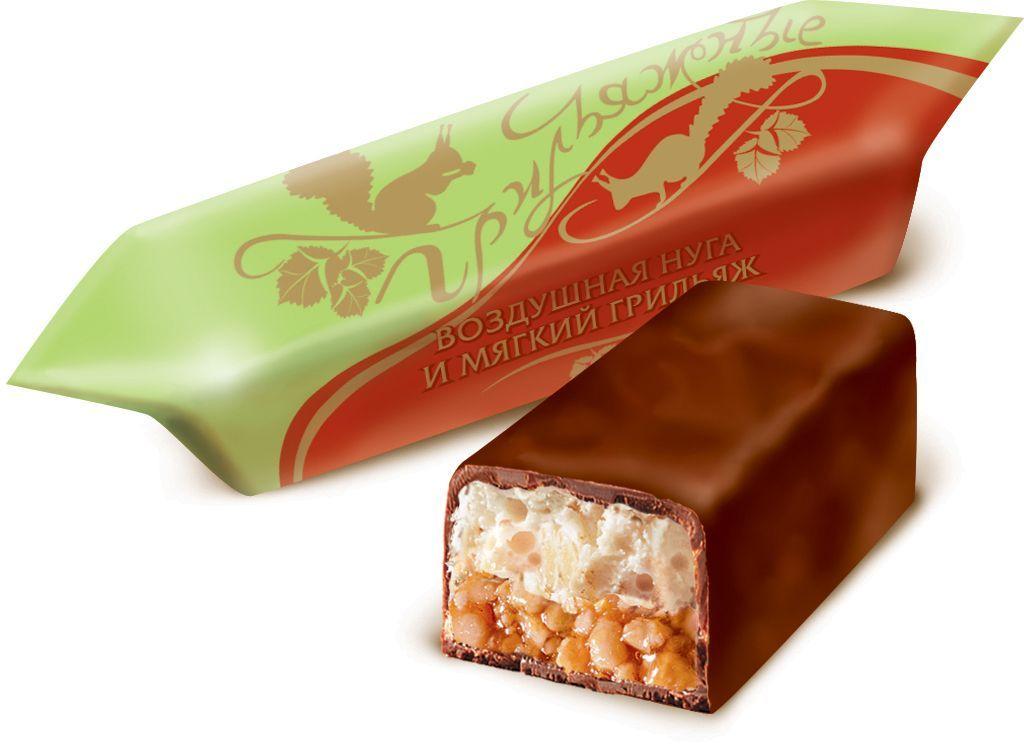 Красный Октябрь Грильяжные конфеты воздушная нуга и мягкий грильяж в шоколадной глазури, 200 г красный октябрь красная шапочка конфеты с вафельной начинкой в шоколадной глазури 250 г