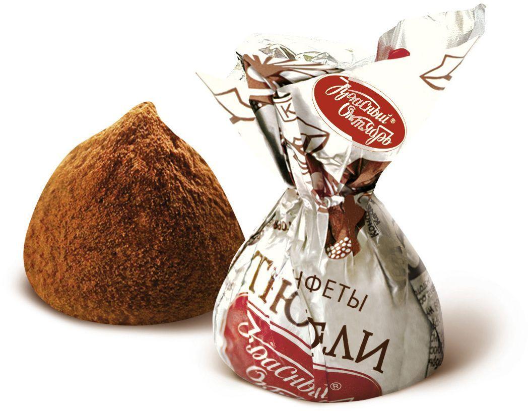 Красный Октябрь Трюфели неглазированная шоколадно-кремовая конфета, обсыпанная какао-порошком, 200 гКО17107-02400Знаменитые московские конфеты напоминают вкус детства!