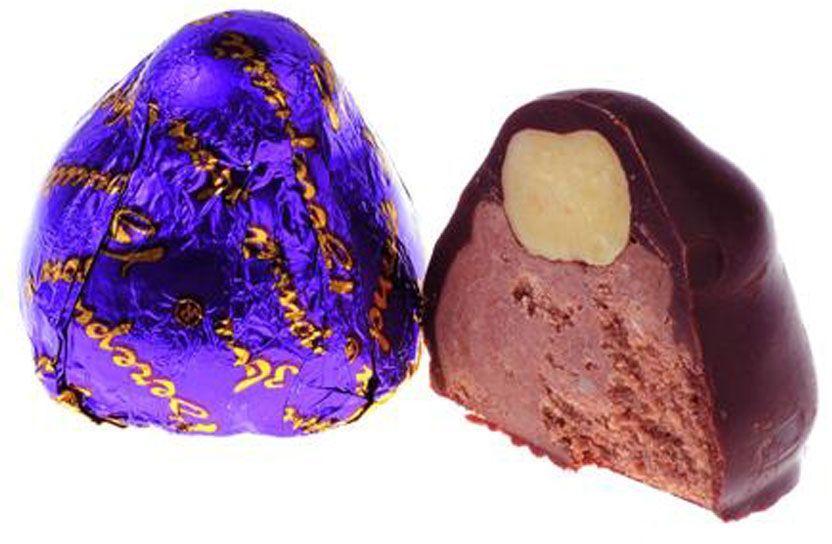 Рот-Фронт Вечерний звон конфеты с пралине в шоколадной глазури, 250 г славянка золотой степ конфеты 192 г